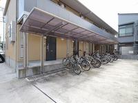 駐輪場:屋根付きの駐輪場で大切な自転車も雨から守ることができます♪